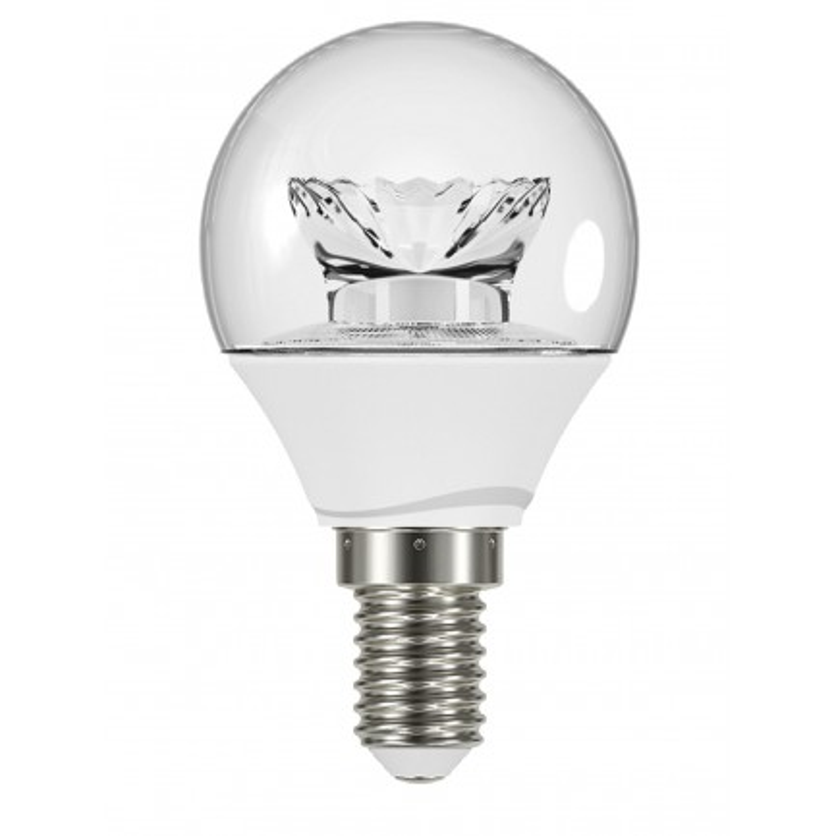 GE LED Bulb Lustre Fancy Round 3.4 Watt SES Warm White