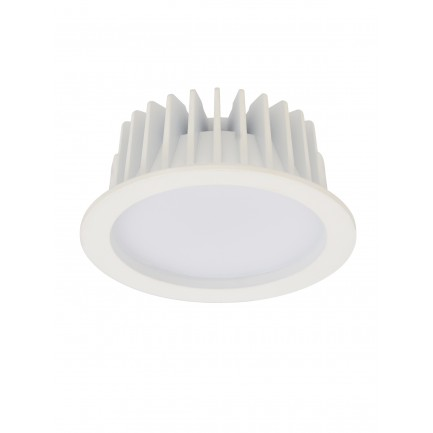 GE LED Champ Downlight Aluminium DIM Cool White 10 Watt white