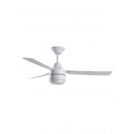 Bayside Calypso 122cm 3 Blade Fan and Light in White