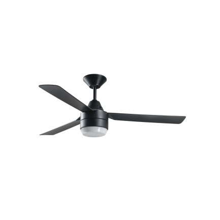 Bayside Calypso 122cm 3 Blade Fan and Light in Black